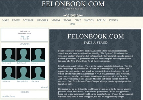 Screenshot: Felonbook