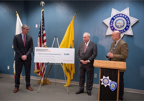Thomson Reuters donated $5,000 to the National Law Enforcement Officers Memorial Fund in honor of SBPD (Photo: San Bernardino PD)