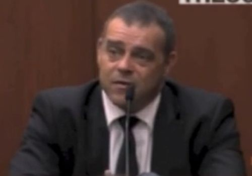 Detective Chris Serino testifies Monday in the Trayvon Martin trial. Screenshot via The Count.