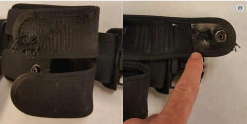 A Tucson police officer was reportedly saved Friday when a bullet hit his duty belt. (Photo: Tucson PD/Twitter)