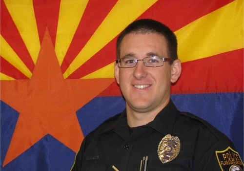 The shooting ofOfficer Tyler Jacob Stewart was captured on his body camera and released by the Flagstaff PD, as required by law.