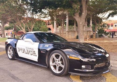 This Corvette Z06 was seized from a convicted drug dealer and awarded to the New Braunfels PD. (Photo: Facebook)