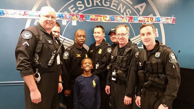 William Smiley, 9, is the son of a fallen Atlanta officer and an ardent supporter of local police. (Photo:
