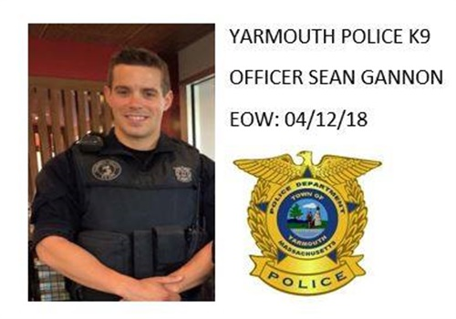 Officer Sean Gannon was shot and killed serving a warrant. (Photo: Yarmouth Police Dept./Facebook)