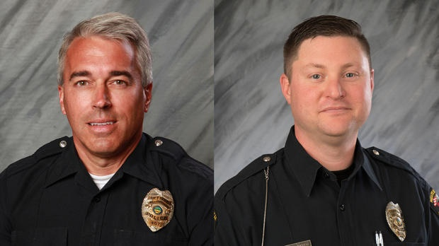 Police officers Anthony Morelli, left, and Eric Joering were killed while responding to a call in Westerville, Ohio. (Photo: City of Westerville)