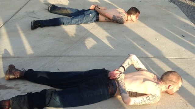 Two Georgia fugitives suspected of killing prison guards during an escape were captured Thursday night with the aid of armed civilians. (Photo: TBI)