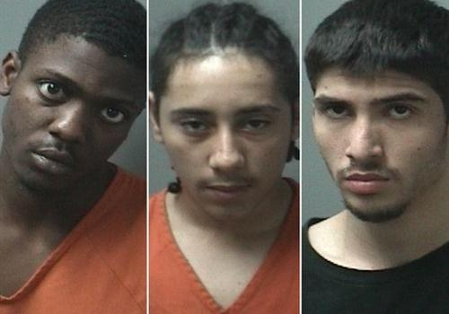 The suspects were identified as Vaylen Keishaun Glazebrook (left), Michael Deweese and Jesse Benti-Torres. Deweese and Glazebrook were shot by police. They face charges of rape and attempted murder. Benti-Torres was charged with burglary and assisting a criminal.