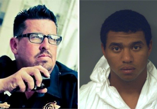 Constable Robert White (Left). Suspect Devon Person Huerta (Photos: Facebook/El Paso County Sheriff's Office)