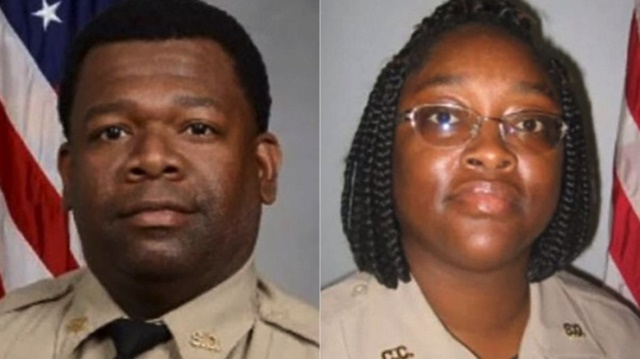 Crisp County, GA, Sheriff's deputies Martelle Davis and Shawana Davis were arrested in Mexico for packing their duty weapons and ammo. They have been released and are back in the United States. (Photo: Crisp County SO)