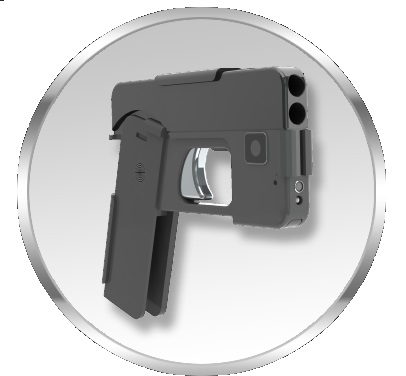 The Ideal Conceal pistol folds out from a smartphone form into a two-shot .380 caliber weapon.