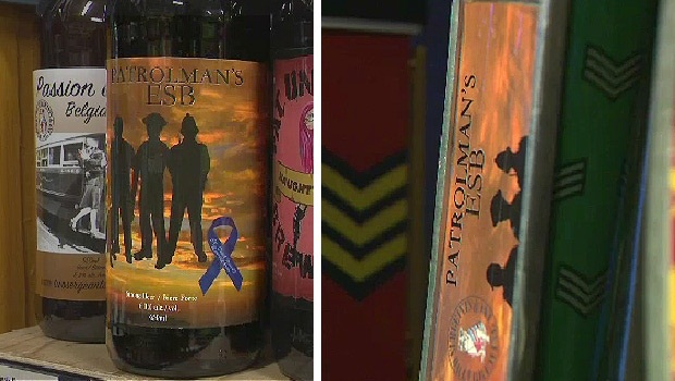 Patrolman's English-Style Bitter was produced in honor of Const. Daniel Woodall by Two Sergeants Brewing Co. (Photo: CTV News screen shot)