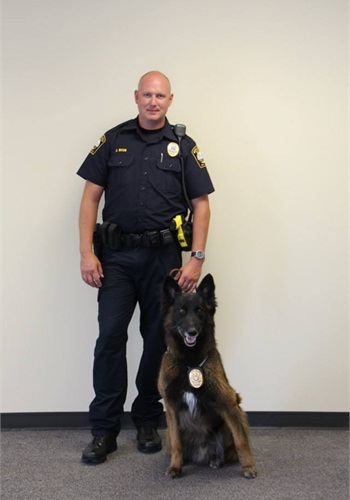 Officer John Ritch and K-9 Grizz (Photo: Brookhaven PD)