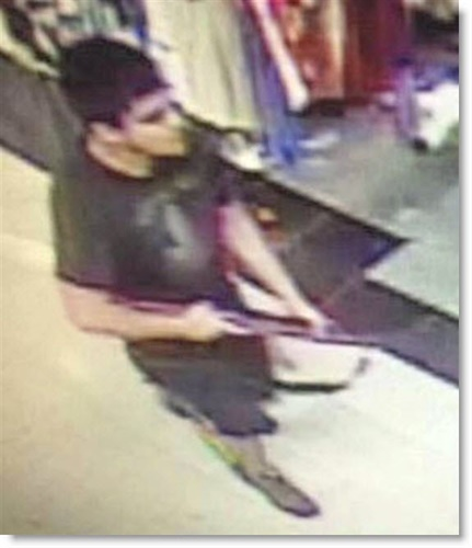 Surveillance video image of man suspected of killing five people in the Cascade Mall in Burlington, WA. (Photo: Skagit County Department of Emergency Management)