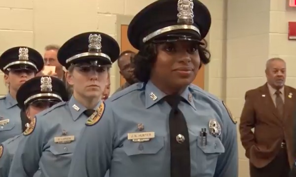 Jacquen Hunter graduatedfrom the New Orleans Police Departmentacademy Friday (Dec. 15). Her sister, Natasha Hunter was fatally injured last year in a crash. Two ofJacquen's sisters are serving with the NOPD. (Photo: NOPD)