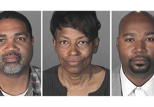 David Henry, left; Brandon Kiel, right; and Tonette Hayes are accused of operating a fictitious police department.(Photo: Los Angeles County Sheriff's Department)