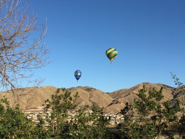 San Bernardino Couty (CA) Sheriff's deputies ordered the pilots of these balloons to land after homeowners complained they were flying to low over their roofs. (Photo: San Bernardino SO)