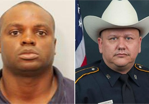 Shannon J. Miles is charged with the murder of Deputy Darren Goforth (Right). (Photo: Harris County Sheriff)