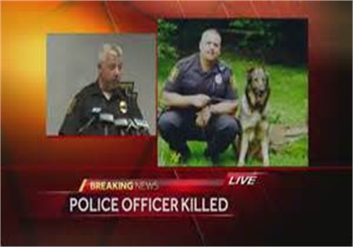 K-9 handler Lt. Eric A. Eslary of the Ligonier Township (Pa.) PD was killed Saturday in a traffic accident. (Photo: Screen Shot from WTAE TV)