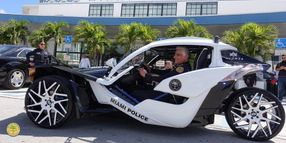 Miami Police Department Unveils Head-Turning 3-Wheel Police Vehicle