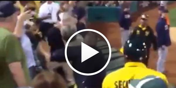 Video: Oakland Cops TASER Combative A's Fan