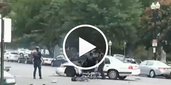 Video: Citizen Captures Cruiser Crash In Capitol Chase