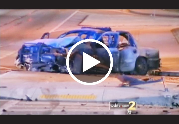 Video: Ga. Man Rescues Cop Trapped In Wreck