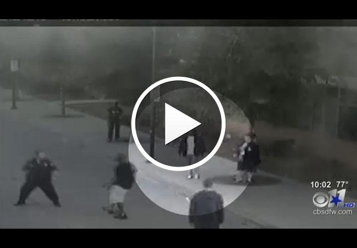 Video: Homeless Ex-Crip Helps Dallas Cop