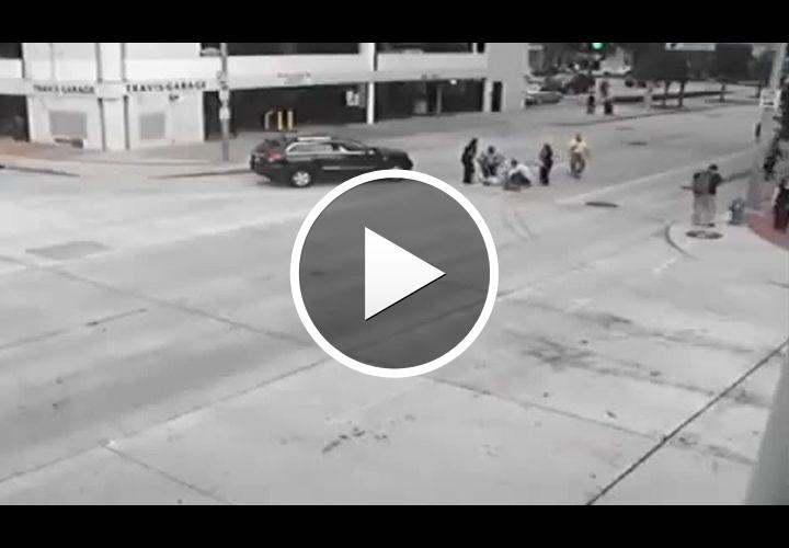Video: Houston Chief Strikes Pedestrian