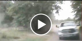 Video: Texas Cop Rammed with Stolen Truck