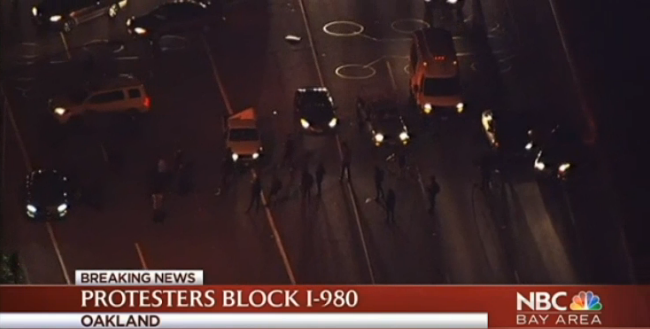 Video: Protesters Block Oakland Freeway After Police Kill Carjacking Suspect