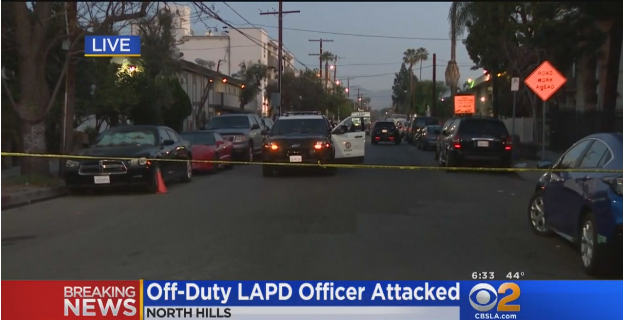 Video: Off-Duty LAPD Officer Attacked with Blunt Object, Suspect Shot