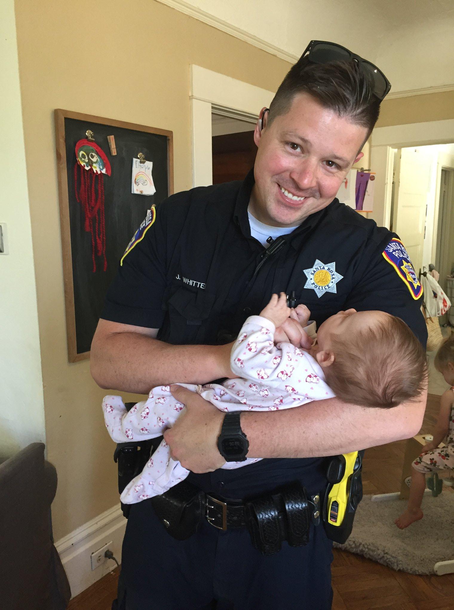 California Officer Adopts Baby of Homeless Woman Battling Drug Addiction