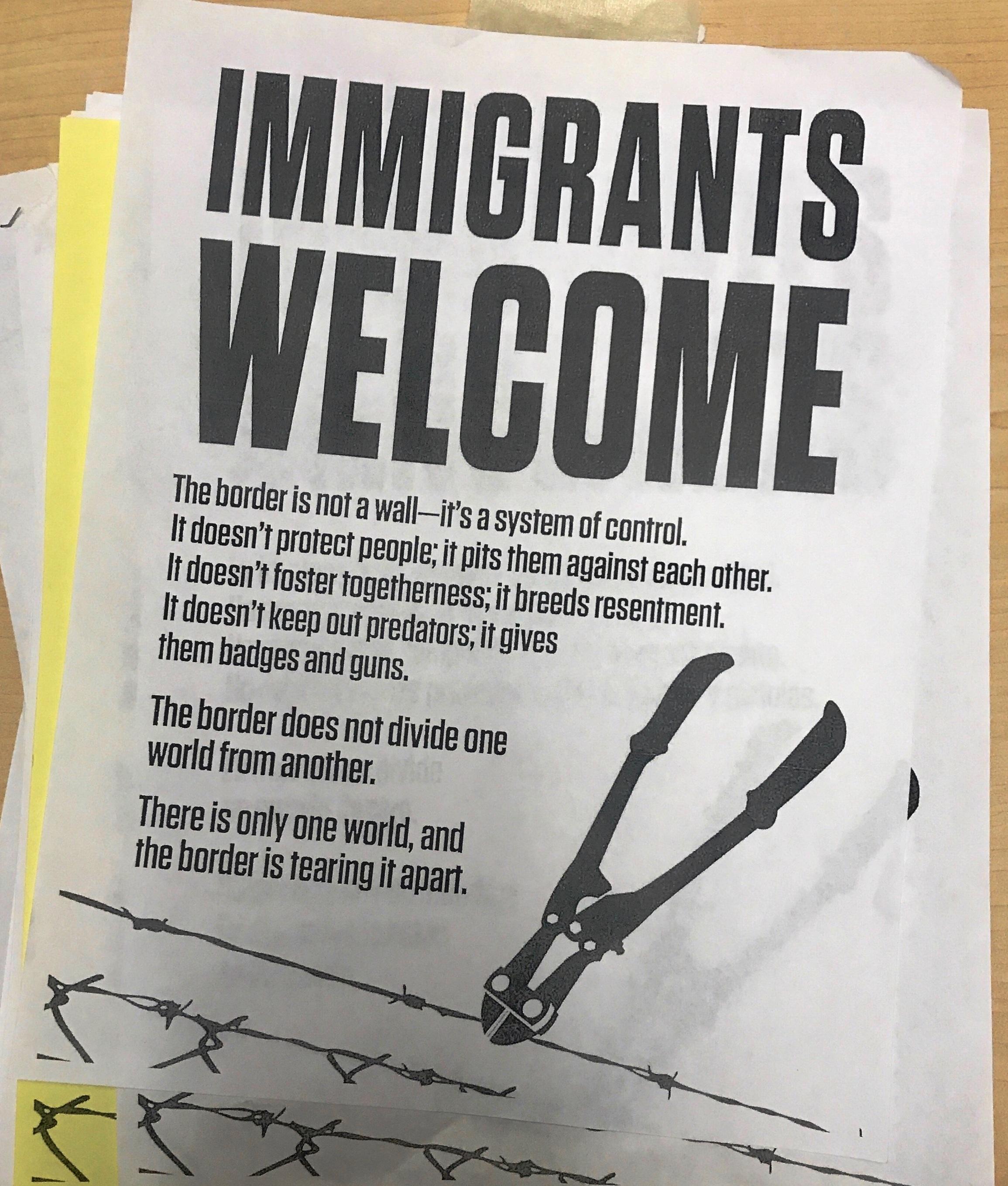 Posters in OR Elementary School Seem to Call Police Predators