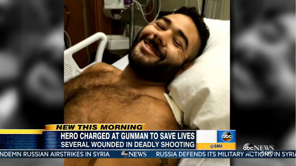 Video: Army Vet Shot 7 Times Trying to Stop Oregon College Shooter