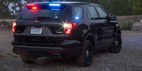 Ford Police Interceptor Utility Now Available with Rear Spoiler Traffic Warning Lights