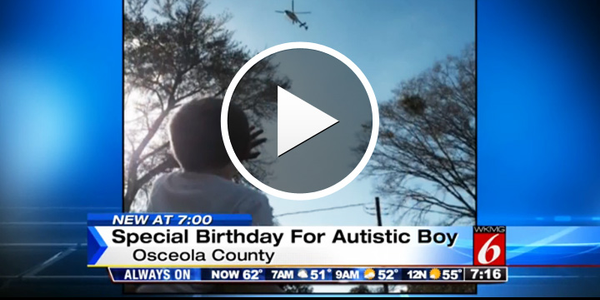 Video: Florida Deputies Help Rescue Lonely Autistic Boy's Birthday Party