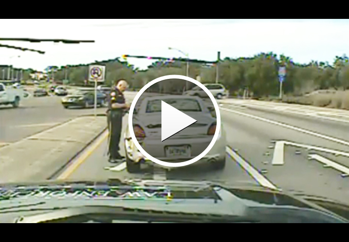 Video: Florida Officer Run Over by DUI Suspect