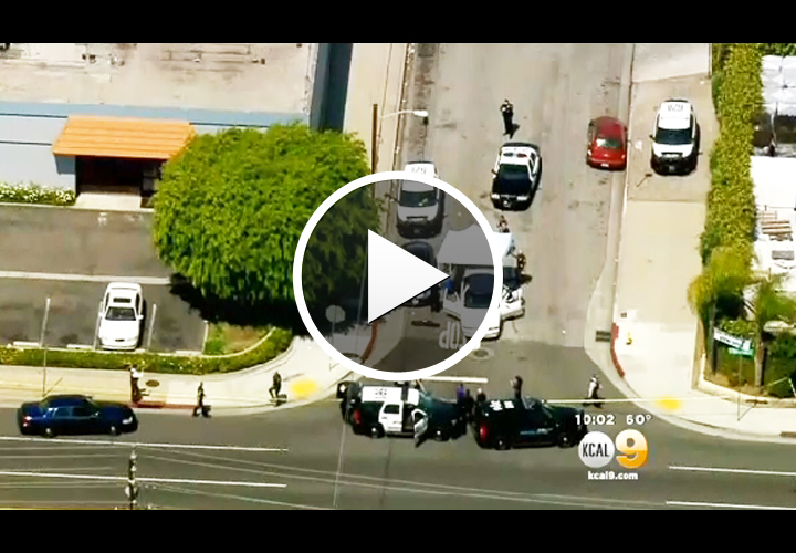 Video: Gunman Shot Dead After Killing Woman in Front of California Officer