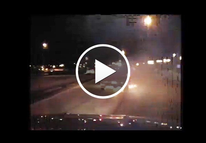 Video: Truck Ignites During Iowa Pursuit