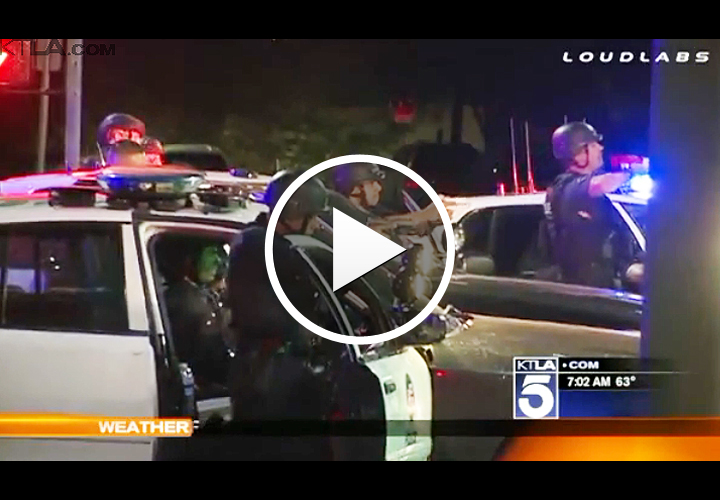 Video: LAPD Kills Man After Running Gun Battle, Vehicle Pursuit