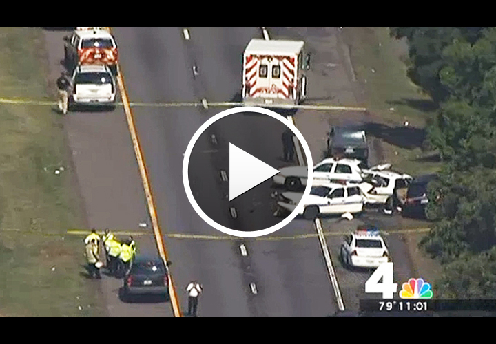 Video: Minivan Seriously Injures Maryland Officer, Hits 3 Patrol Cars