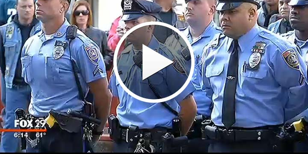 Video: Philadelphia Police Hold Vigil to Protest Cop Killer's College Speech