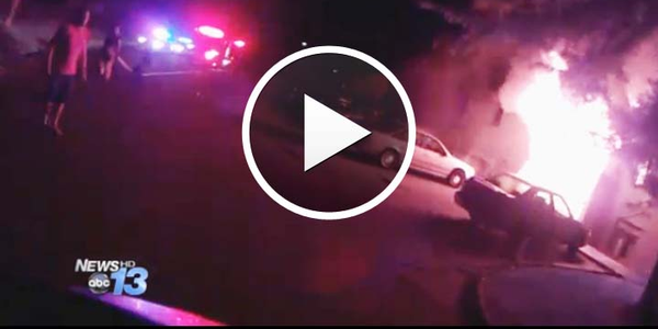 Video: North Carolina Officer Rescues Man from Burning Apartment