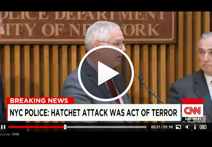 Video: NYPD Says Hatchet Attack an Act of Terror
