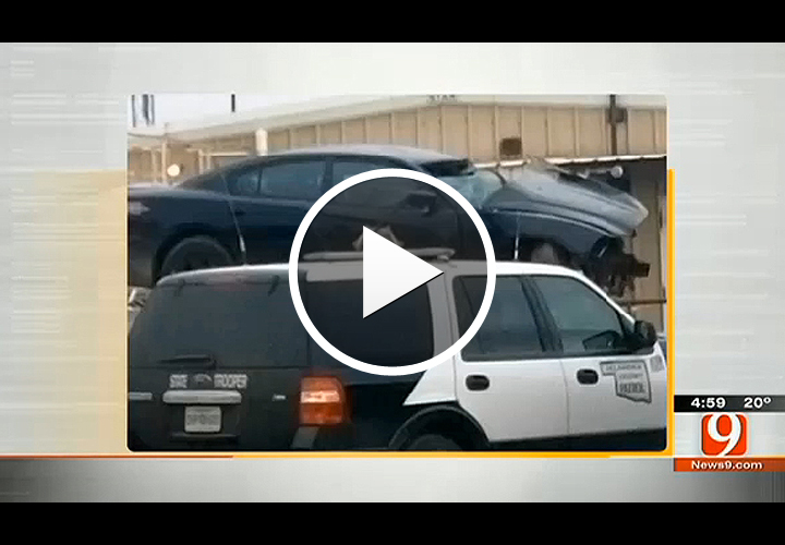 Video: 2 Okla. Officers, Suspect Killed in Vehicle Pursuit