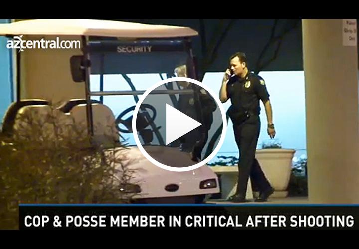 Video: Phoenix Officer, Maricopa Posse Member Shot by Robbery Suspect