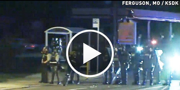 Video: Officers Use Tear Gas on Angry Crowd Protesting Missouri OIS