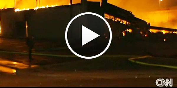 Video: Ferguson Erupts in Riots, Burning, Looting