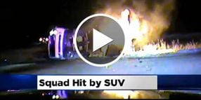 Video: Man Rescues Officer From Fiery Crash