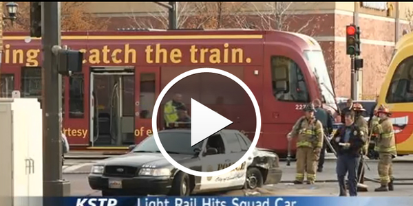 Video: St. Paul Officer Hurt in Crash with Light Rail Train